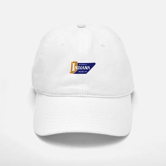 """The People of Indiana Welcome You"" - USA Baseball Baseball Cap"