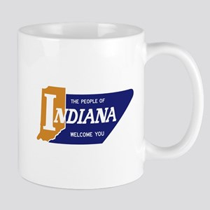 """The People of Indiana Welcome You"" - U Mug"