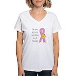 Breast Cancer Awareness Women's V-Neck T-Shirt