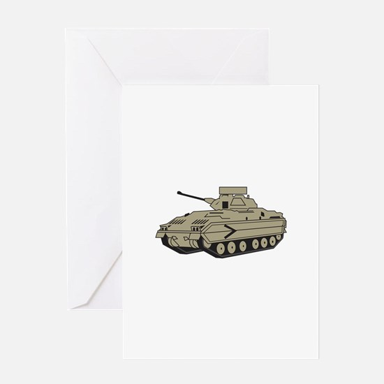 M Two Bradley Tank Greeting Cards