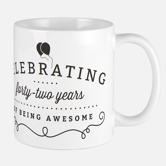 Celebrating Forty-Two Years Mugs