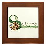 Slainte Celtic Knotwork Framed Tile