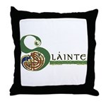 Slainte Celtic Knotwork Throw Pillow