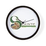 Slainte Celtic Knotwork Wall Clock