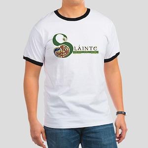 Slainte Celtic Knotwork Ringer T