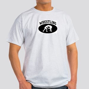 Wrestling (BLACK circle) Light T-Shirt