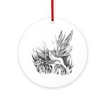 Fairy and Dragon Ornament Keepsake (Round)