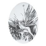 Fairy and Dragon Ornament Keepsake (Oval)