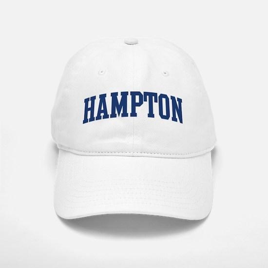 HAMPTON design (blue) Baseball Baseball Cap
