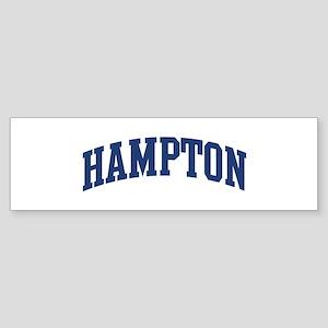 HAMPTON design (blue) Bumper Sticker