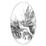 Fairy and Dragon Oval Sticker