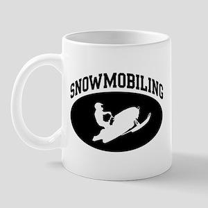 Snowmobiling (BLACK circle) Mug