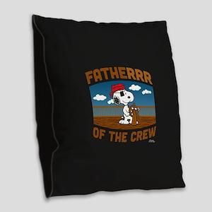 Fatherrr Burlap Throw Pillow