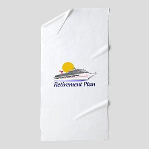 Cruise Retirement Plan Beach Towel