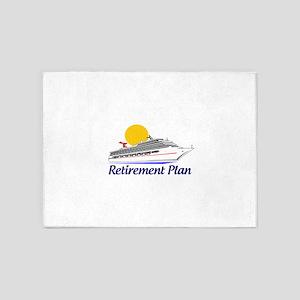 Cruise Retirement Plan 5'x7'Area Rug