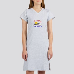 More Fun On A Crusie Women's Nightshirt