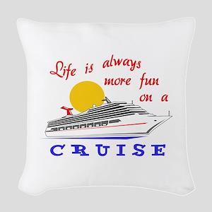 More Fun On A Crusie Woven Throw Pillow