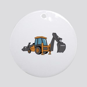 Backhoe Round Ornament