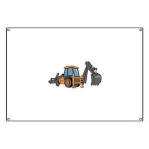 Bulldozer Banners Wall Mounted Banners