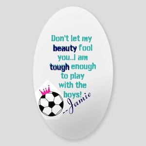 Soccer Princess Girl Sticker