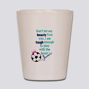 Soccer Princess Girl Shot Glass