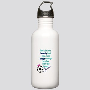 Soccer Princess Girl Water Bottle