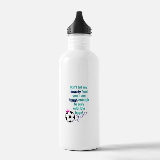 Soccer Princess Girl Water Bottle