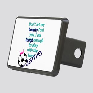 Soccer Princess Girl Hitch Cover