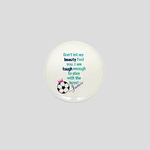 Soccer Princess Girl Mini Button