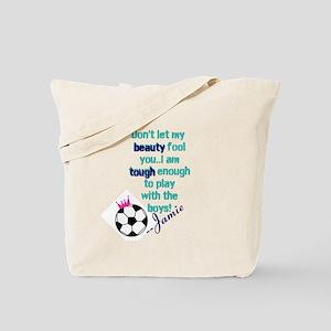 Soccer Princess Girl Tote Bag
