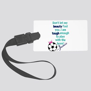 Soccer Princess Girl Luggage Tag