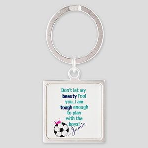 Soccer Princess Girl Keychains