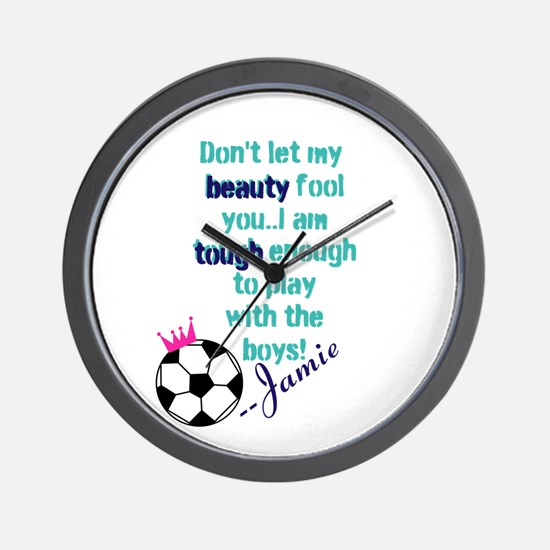 Soccer Princess Girl Wall Clock