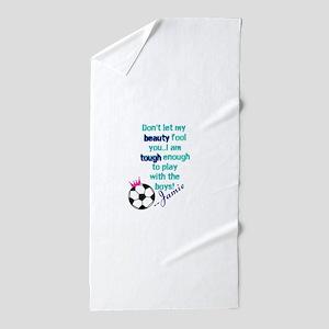 Soccer Princess Girl Beach Towel