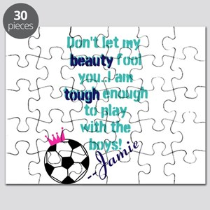 Soccer Princess Girl Puzzle