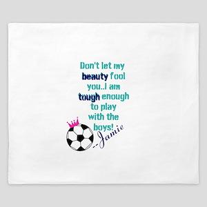 Soccer Princess Girl King Duvet