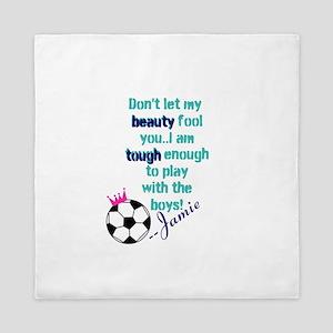 Soccer Princess Girl Queen Duvet