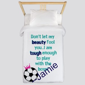 Soccer Princess Girl Twin Duvet