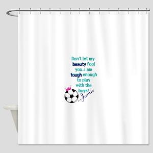 Soccer Princess Girl Shower Curtain