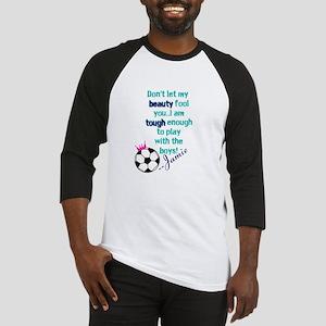 Soccer Princess Girl Baseball Jersey