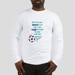 Soccer Princess Girl Long Sleeve T-Shirt