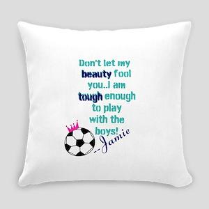 Soccer Princess Girl Everyday Pillow