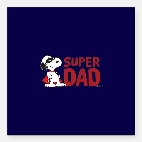 """Super Dad Square Car Magnet 3"""" x 3"""""""