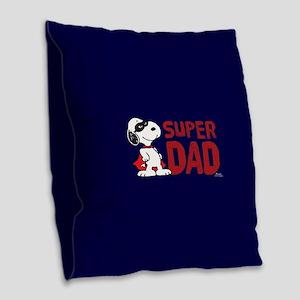 Super Dad Burlap Throw Pillow