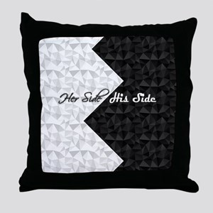 Black White Argyle His Hers Throw Pillow
