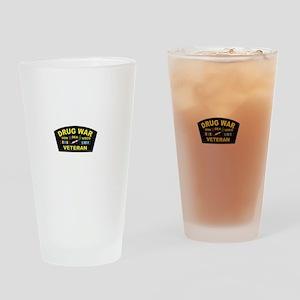 Drug War Veteran Drinking Glass