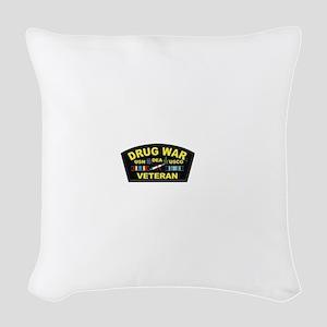 Drug War Veteran Woven Throw Pillow