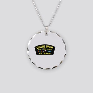 Drug War Veteran Necklace Circle Charm