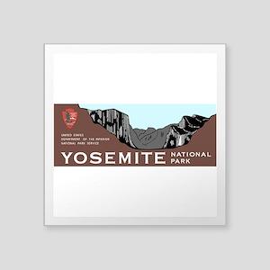 "Yosemite National Park, Cal Square Sticker 3"" x 3"""