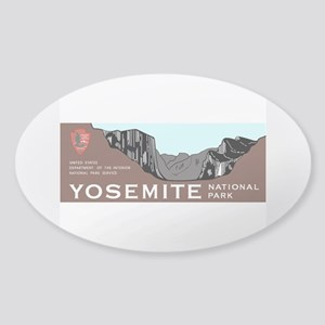 Yosemite National Park, California Sticker (Oval)
